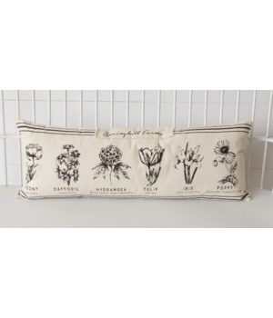 Pillow - Black And White Botanical 13 H x 35 W x 4 D in.