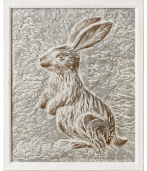 Embossed Rabbit Wall Hanging 21.75 H x 26.75 W x 0.75 D in.