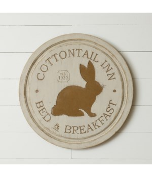 SIGN - COTTONTAIL INN BED & BREAKFAST 23.5 DIA in.