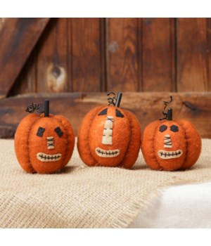 Mini Pumpkins With Faces