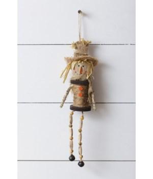 Shelf SItter - Spool Scarecrow 6.5 in. x 2 in. Pk03