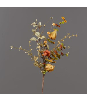 Branch - Pods, Mini Pumpkins, Assorted Fall Foliage