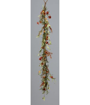 Garland - Mini Mums, Assorted Fall Colored Spikes 48 in.