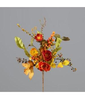 Branch - Mini Fall Poppies, Fall Foliage