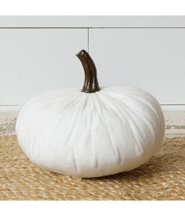 Velvet Pumpkin, White