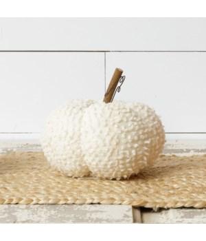 White Fabric Pumpkin