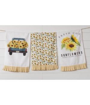 Fresh Cut Sunflowers - Tea Towel