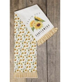 Fresh Cut Sunflowers - Reversible Table Runner