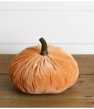 Large Velvet Pumpkin, Orange
