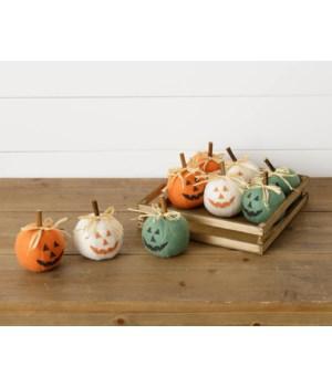 Crate Of 9 Jack O Lantern Pumpkins