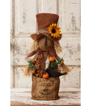 Scarecrow - Harvest Farmer's Market Led Candle