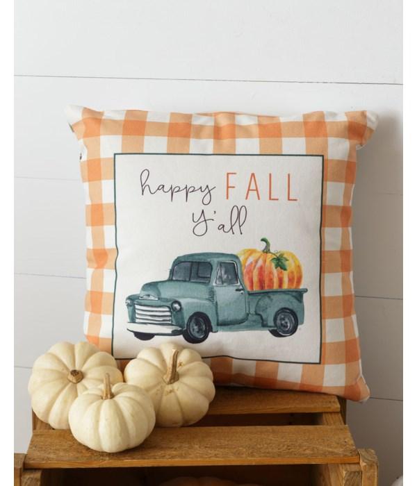 Pillow - Happy Fall Ya'll, Two-Sided