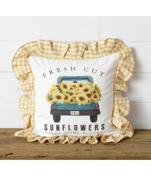 Fresh Cut Sunflowers Two Sided Pillow