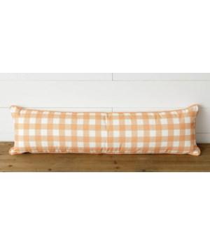 Orange Buffalo Plaid Lumbar Pillow