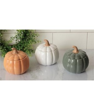 Covered Pumpkin Bowls