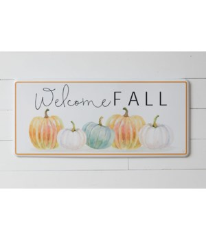 Metal Sign - Welcome Fall Pumpkin Patch