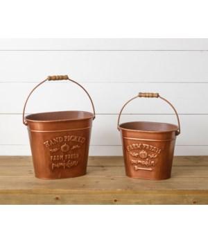 Buckets - Copper, Farm Fresh Pumpkin