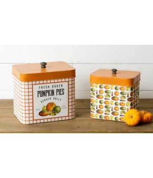 Fresh Baked Pumpkin Pies Nesting Tins