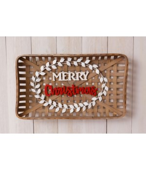 Tobacco Basket - Merry Christmas 14 in. x 23.5 in. x 2 in.