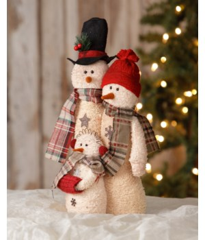 Snowman - Family Of Three 15 in.