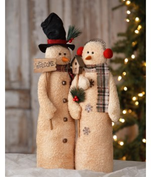 Snowman - Couple  Welcome W/Birdhouse 21 in. Pk02A