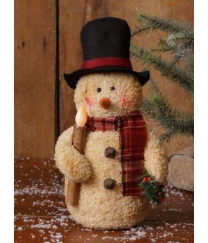 Snowman W/Led Candle 14 in.