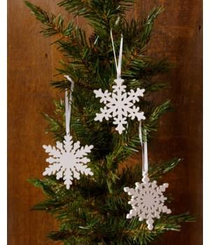 Ornaments - Glittery Snowflakes