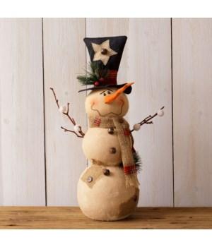 Snowman - Burlap Scarf