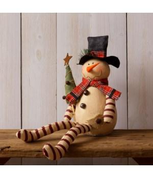 Snowman - Sitting, Holding Tree