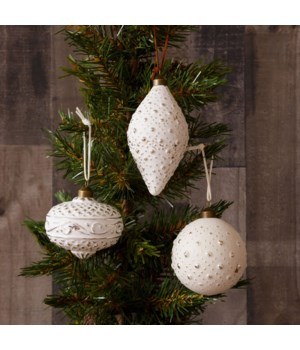 Ornaments - Silver and White