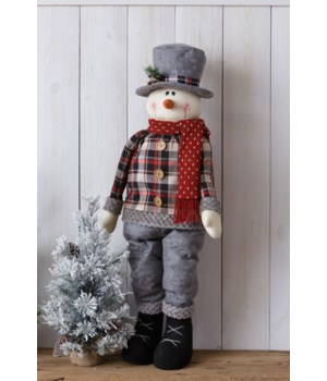 Cozy In Plaid - Snowman - Standing