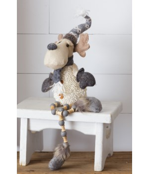Moose - Shelf Sitter, With Pattern Hat