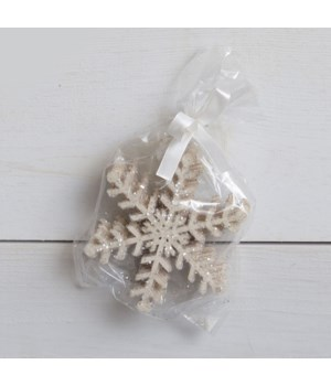Pack Of 6 Snowflake Gift Tags - Fern