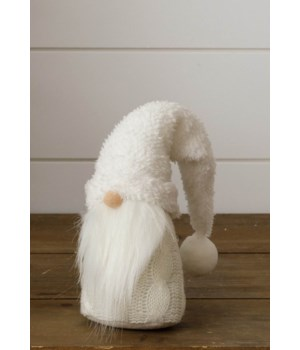 Gnome - White With Fuzzy Hat, Sm