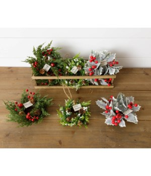 Crate Of 9 Wreath Ornaments