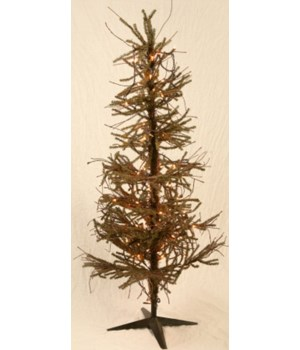 Christmas Tree - German Fir Floor 200 Lights, 6' H