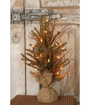 Christmas Tree - German Fir Table 20 Lights, 18   H