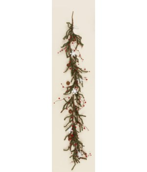 Snowflakes And Rusty Bells - Garland
