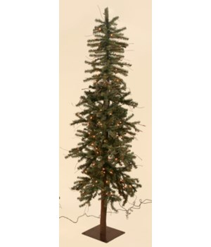Christmas Tree - Alpine with 643 Tips & 180 Lights, 6' H