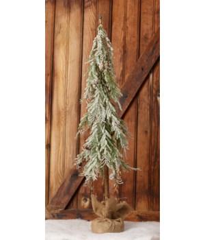 Snowy Tree In A Burlap Sack, Lg