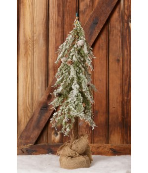 Snowy Tree in A Burlap Sack, Small