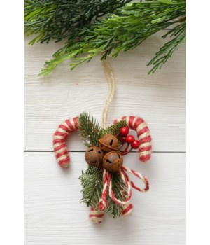 Ornament - Twine Candy Cane