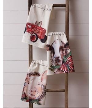 Tea Towels - Farmhouse Christmas