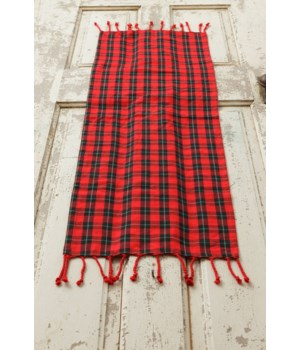 Table Runner - Red and Black Tartan