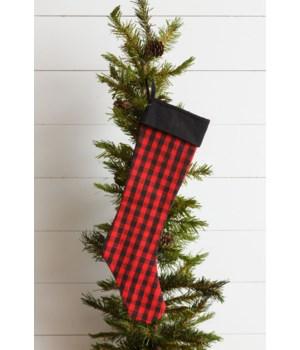 Stocking - Red And Black Buffalo Plaid