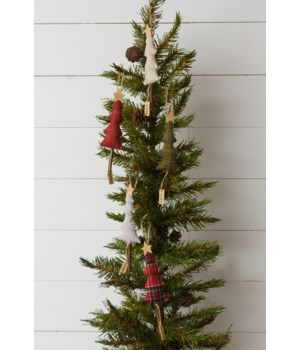 Ornaments - Trees With Wood Star