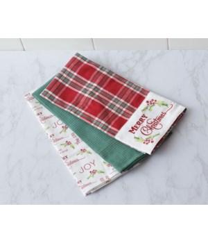 Tea Towels - Merry Christmas Plaid