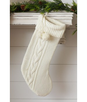 Stocking - Cream Knit