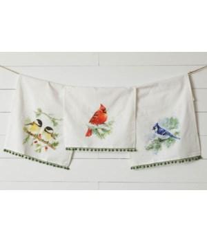Winter Birds Tea Towels