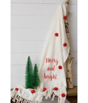 Merry And Bright Pom Pom Throw